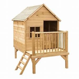 Maison Enfant Castorama : cabane enfant en bois peindre winny 190x120x200 cm ~ Premium-room.com Idées de Décoration