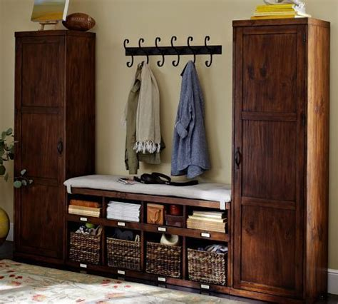 Entryway Cabinet Tower by 3 Locker Tower Bench Set Mikes Cabinet