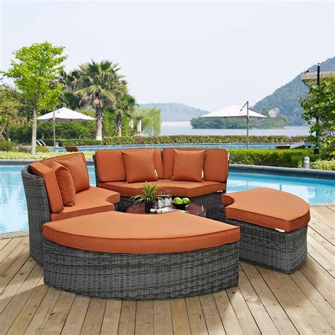 outdoor furniture summon circular outdoor patio sunbrella daybed in canvas