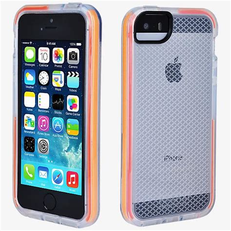 tech 21 iphone 5s tech21 impact shell check clear for iphone 5 5s