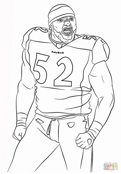 Coloring Pages Ray Lewis Football Baltimore Ravens