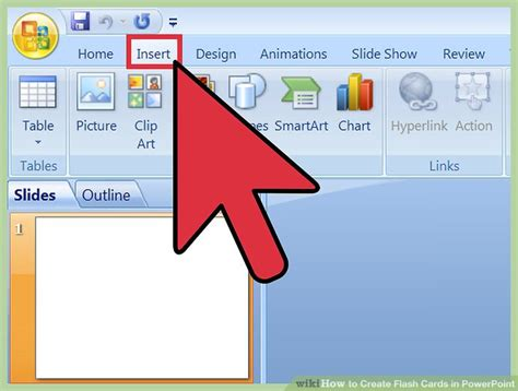 how to make a powerpoint how to create flash cards in powerpoint with pictures