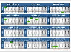 Kalendarz 2018 Niemcy, Land BadenWürttemberg Badenia