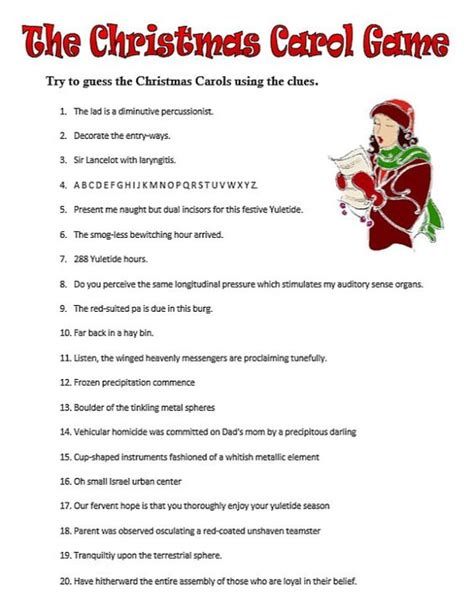 guessing games for christmas guess the carol printable pdf instant the o jays the and