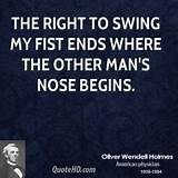 The right to swing my fist