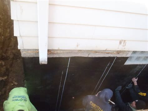 Seal Exterior Foundation Wall Crack