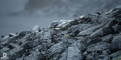 Debris Rock Scene Mountain