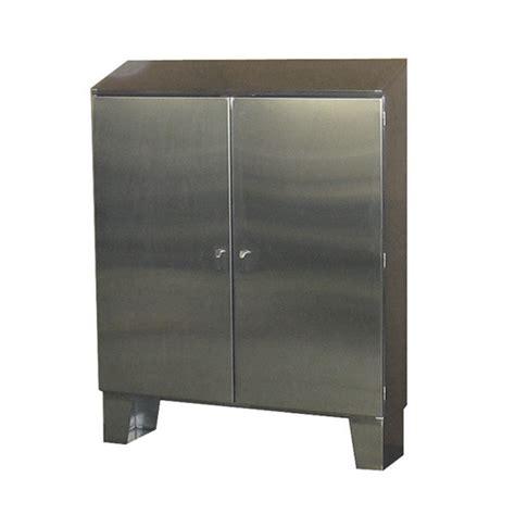 double door steel cabinet stainless steel cabinet floor mount double door w sloped
