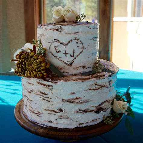 Top Wedding Cake Trends For 2017 Rustic Birch Tree Cake