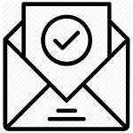 Letter Icon Formal Acceptance Confirmation Email Clipart