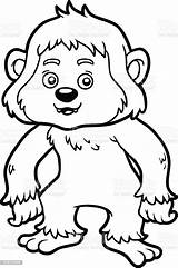 Yeti Coloring Vector Activity Illustration sketch template