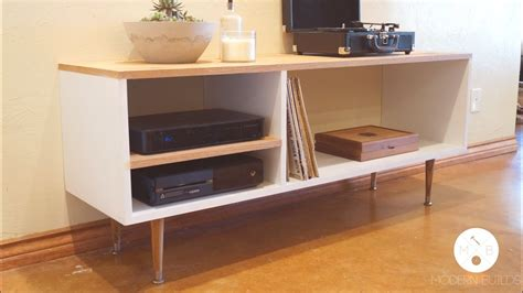 Diy Mid Century Modern Console Table  Modern Builds Ep
