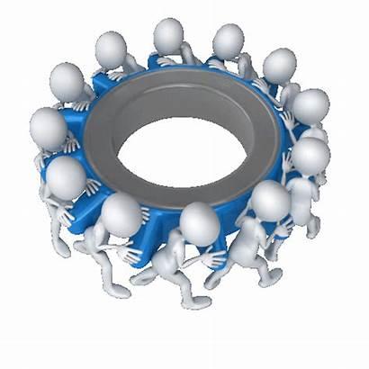 человечки Teamwork Meeting колесо Powerpoint Pac Team