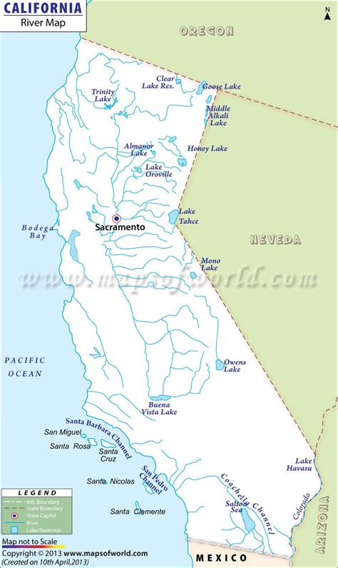 california river map maps     rivers