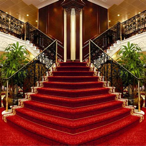 xft grand hotel louge red carpet stairs staircase