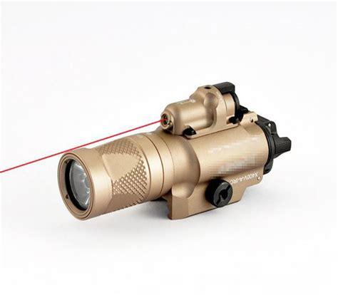 surefire laser light combo xdm qd m6 led tactical flashlight red laser combo sight black