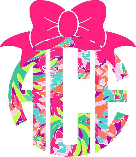 lilly pulitzer monogram decal  bow  southernideology  etsy love cars motorcycles
