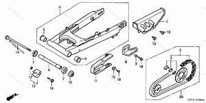 Honda Motorcycle 2000 Oem Parts Diagram For Swingarm