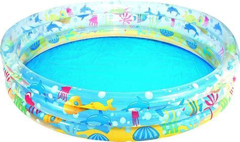 Deep Dive 3-Ring Paddling Pool - - 60in x 12in by Bestway ...