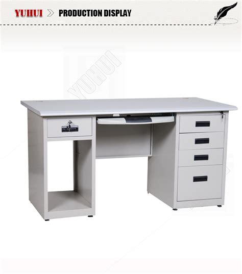 gray desk with drawers light grey steel cpu storage locking drawers office