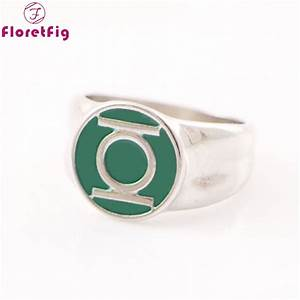 aliexpresscom buy dc comics green lantern ring silver With green lantern mens wedding ring