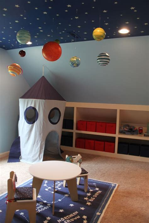 img space themed bedroom kid room decor space