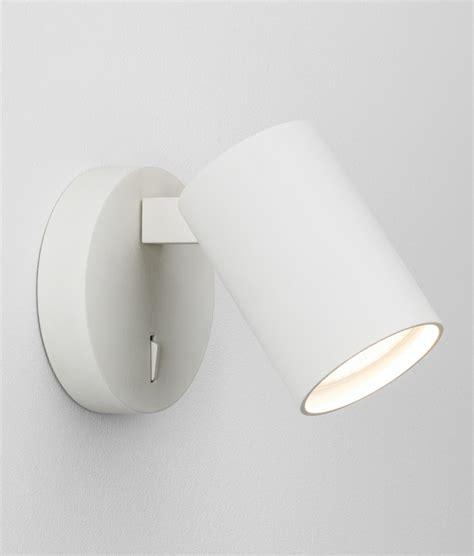 modern single spotlight white bronze or nickel and