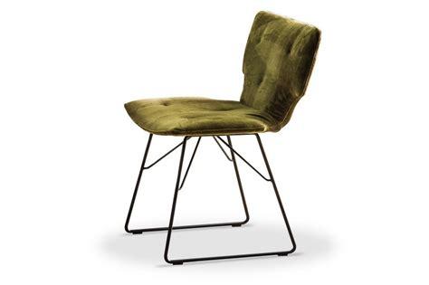 chaises 4 pieds chaises design velours et cuir mr lewis par 4 teinte au choix