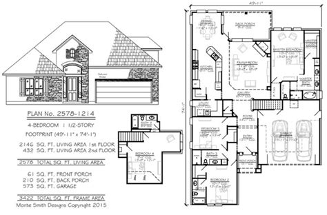 House Plans For 50 Wide Lots