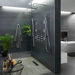 15 modeles de salle de bains qui adaptes a tous les styles With porte d entrée pvc avec meuble salle de bain deux vasques leroy merlin