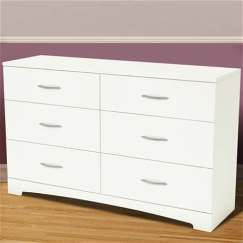 south shore step one dresser white southshore step one 6 drawer dresser in white