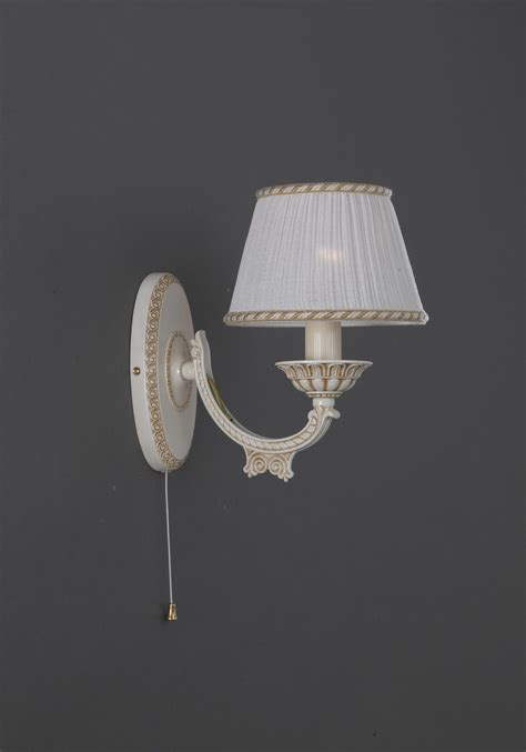 1 light old white brass wall sconce with l shades
