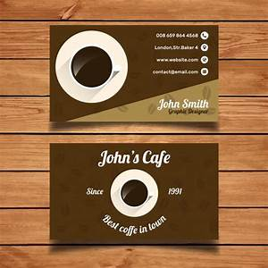 Coffee business card template vector free download for Coffee business card template free