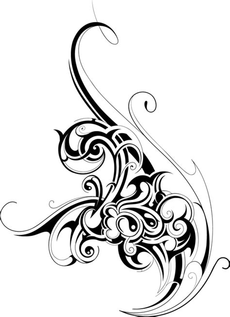 Black tattoos ornaments design vector set 11 free download