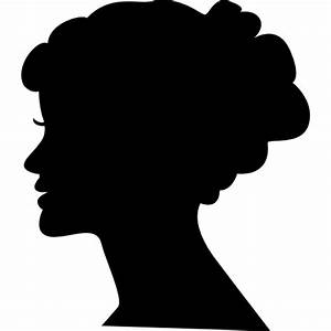 Female head silhouette - Free people icons