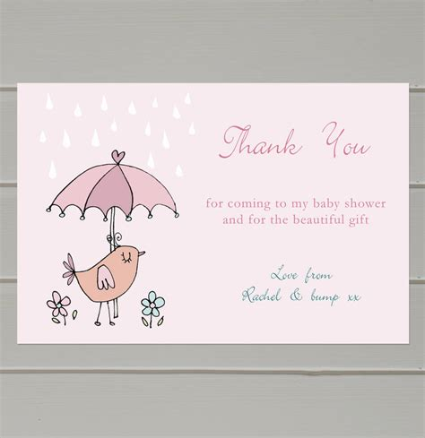 How To Write Thank You Cards For Baby Shower personalised baby shower thank you cards by molly moo