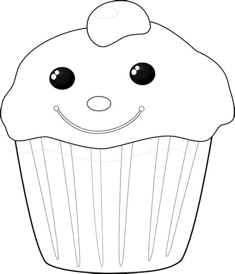Kleurplaat Chocolade by Kleurplaat Chocolade Cupcake Met Een Vrolijk Gezichtje