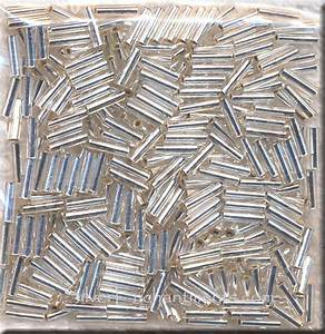 6mm Miyuki Bugle Beads  Silver Lined Crystal  Tube Beads