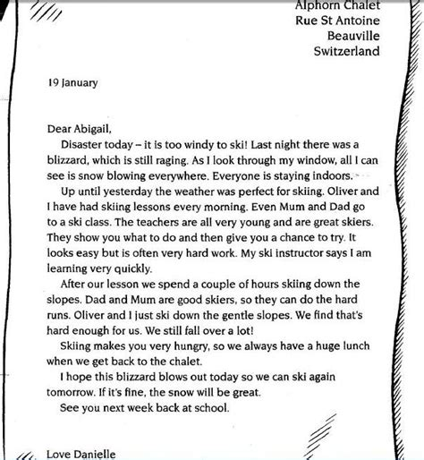 formal letter  class  letters  sample letters