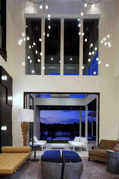 lighting for living room with high ceiling lighting for high ceilings dining room contemporary with 2 story built in buffet