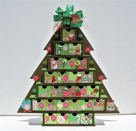 advent calendar wooden christmas tree from auriesdesigns on