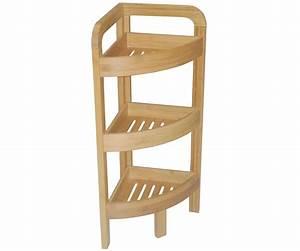 Etagere Rangement Salle De Bain : etagere d 39 angle bambou salle de bain 3 niveaux meuble rangement bois ~ Melissatoandfro.com Idées de Décoration