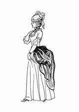 Coloring Colorare Corset Colorear Colouring Disegno Coloriage Dibujo Vestido Robe Victorian Bustino Tournure Adult Bustle Vestito Korsett Kleid Kleed Malvorlage sketch template