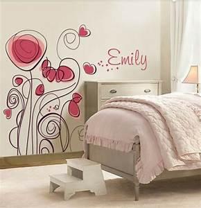 Tapete Babyzimmer Mädchen : m dchenzimmer wandgestaltung ~ Frokenaadalensverden.com Haus und Dekorationen