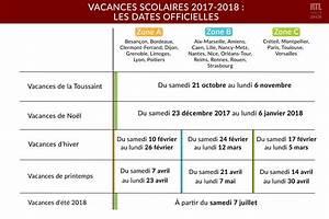 Vacances Aout 2018 : infographie les dates officielles des vacances scolaires de l 39 ann e 2017 2018 ~ Medecine-chirurgie-esthetiques.com Avis de Voitures