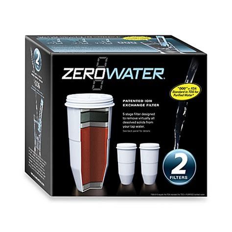 zerowater 2 pack pitcher replacement filter bed bath
