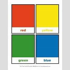 Color Flashcards  Red, Yellow, Green And Blue  Class  Color Flashcards, Color, Color Unit