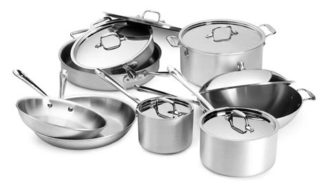 clad master chef  cookware set  piece cutlery