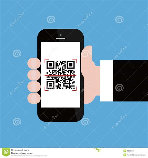 Mobile Phone In Businessman Hand Scanning Qr Code Stock