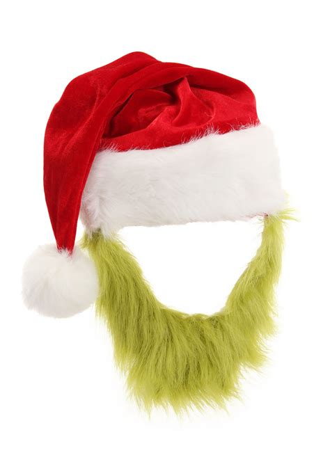grinch hat  fur beard